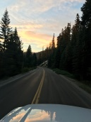 Sunset, leaving Ponderosa
